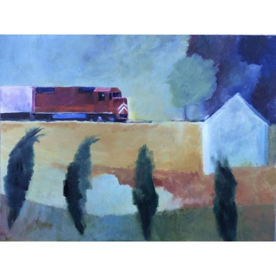 """Freight Train Passing"" - 2015"
