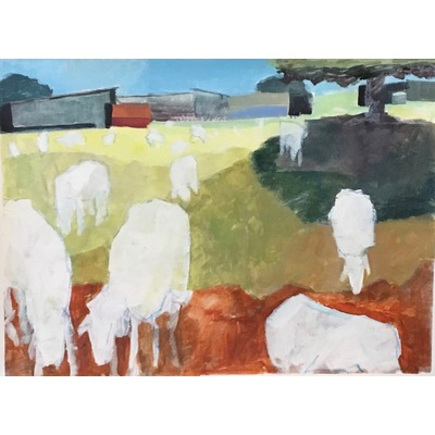 """Bath Village Sheep Pasture"" - 2017"